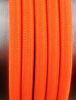 Stoffkabel  3x0,75mm²  neonorange 1 Meter