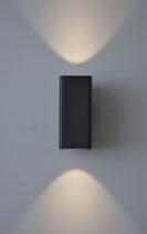 Aussenleuchte Sigma Wandmontage, fokusierter Lichtaustritt medium LED 2x12Watt, 1500 Lumen, IP54