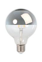 Calex Filament LED Kopfspiegellampe Silber, 4 Watt, 2'300 Kelvin,  E27 Ø95