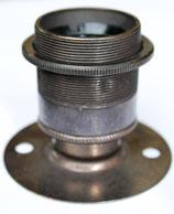 Vintage E27 Fassung mit Deckenflansch Farbe Bronze