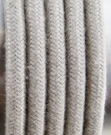 Stoffkabel  3x0,75mm² nature 1 Meter