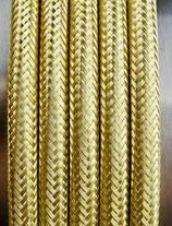 Spitzenstahlkabel  3x0,75mm² gold 1 Meter