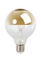 Calex Filament LED Kopfspiegellampe Gold, 4 Watt, 2'300 Kelvin,  E27 Ø95