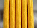 Stoffkabel  3x0,75mm² gelb 1 Meter