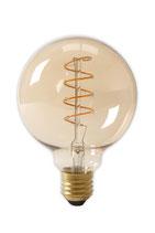 """Calex Flex Filament LED Dimmbare """"Globe"""" Lampe, 4 Watt, 2'100 Kelvin,  E27, Ø125"""