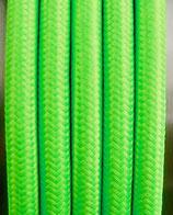 Stoffkabel  3x0,75mm²  neongrün 1 Meter