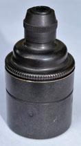 Vintage E27 Fassung ohne Stellring, Bronze