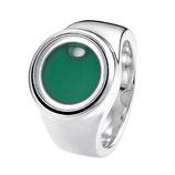 """Silberring """"Capri"""" dunkelgrün"""