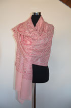 Fine Wool Shawl Allover Embroidery