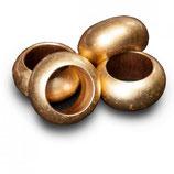 Serviettenringe, rund, gold