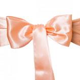 Satinband für Stuhl- oder Tischschleife, peach
