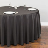 Tischtuch, rund, schwarz