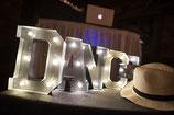 Leuchtbuchstaben DANCE, metall