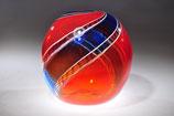 blau-rote Ballonvase von Hubert Hödl
