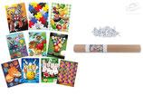 Kit de 10 Blasons jeu EGERTEC avec 50 fiches de fixation
