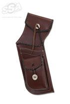 Carquois Holster field BUCK TRAIL en cuir marron avec contours Noir
