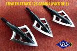 Pack de 3 lames STEALTH ATTACK 125 grains
