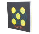 Cible mousse ELEVEN 60x60x 7 cm avec 5 centres amovibles