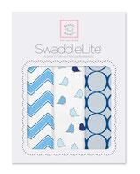 "Swaddle Lite ""Chic Chevron"" blau"