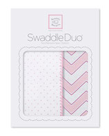 """Swaddle Duo """"Classic Chevron"""" pink"""