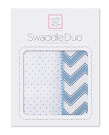 "Swaddle Duo ""Classic Chevron"" blau"