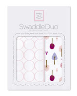 """Swaddle Duo """"Cute & Calm"""" pastel pink"""