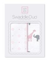 """Swaddle Duo """"Circus Fun"""" pink"""