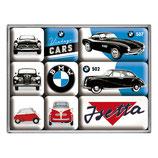 BMW - Vintage Cars, Magnet-Set  9x2x7cm  / 83078