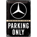 Mercedes - Parking Only  20x30cm  /  22276