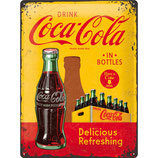 Coca-Cola  IN BOTTLES  Delicious Refreshing  30x40cm