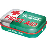First Aid Green, Nostalgic Pharmacy  Mint Box  4x6x1,6cm