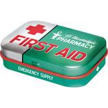 First Aid Green, Nostalgic Pharmacy  Mint Box  4x6x1,6cm  /  81332