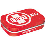 First Aid Red, Nostalgic Pharmacy  Mint Box  4x6x1,6cm