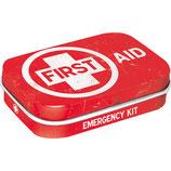 First Aid Red, Nostalgic Pharmacy  Mint Box  4x6x1,6cm  /  81375