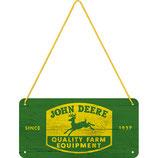 John Deere  Hängeschild 10x20cm