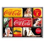Coca-Cola - Yellow Mix, Magnet-Set  9x2x7cm / 83072