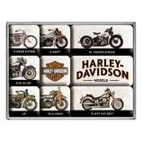 Harley-Davidson Model Chart, Magnet-Set  9x2x7cm  /  83102