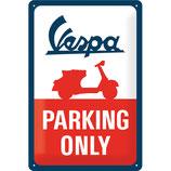 Vespa - Parking Only  20x30cm  /  22282