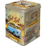 VW Bulli - Let`s Get Lost  Tea-Box 7,5 x 7,5 x 9,5cm  /  31306