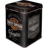 Harley-Davidson - Genuine Logo  Tea-Box 7,5 x 7,5 x 9,5cm / 31310