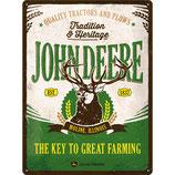 JOHN DEERE - THE KEY TO GREAT FARMING 30x40cm