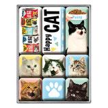 Happy Cats, Animal Club,   Magnet-Set 9x2x7cm  /  783093