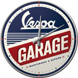 Vespa GARAGE Wanduhr  31cm  /  51090