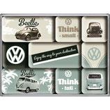 VW Think Tell & Small  Beetle, Magnet-Set    9x2x7cm/ 83054