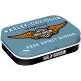 Harley-Davidson  Logo Blue  Mint Box  4x6x1,6cm  /  81380