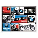BMW - Motorcycles  SERVICE, Magnet-Set  9x2x7cm / 83077