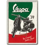 Vespa `59  Blechpostkarte   10x14cm
