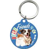 BEST Friends Hund/Katze  Schlüsselanhänger   4cm  /  48029