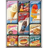 American Diner USA,  Magnet-Set  9x2x7cm /  83069