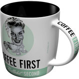 COFFEE FIRST  Tasse  8,5x9cm, 330ml  /  43024